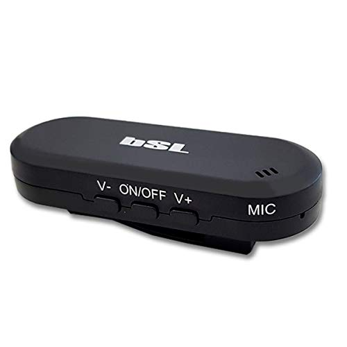 BSL PC022 Kabelloser Musik-Receiver | mit Bluetooth-Freisprechfunktion | Lange Akkulaufzeit | mit Kabel & Adapter Mini-Klinke 3,5 mm im Lieferumfang enthalten