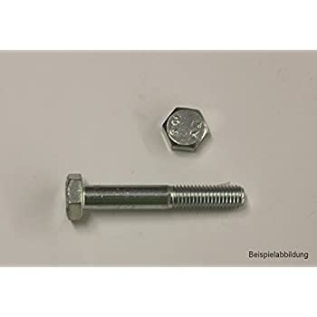 10 Stk Sechskantschraube mit Schaft DIN 931 10.9 M12 x 130 verzinkt