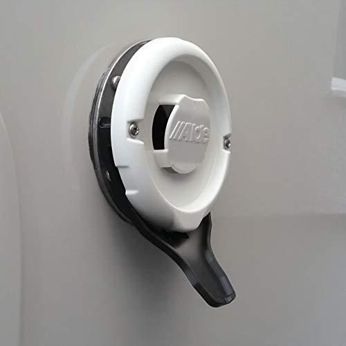 Manufaktur3D Kondenswasserablauf Kaminschild Ablauf für Deckel Kamindeckel Kaminabdeckung Abgaskamin der Heizung an Wohnmobil Caravan (Typ Alde, Schwarz)