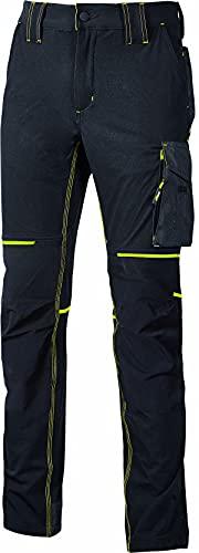U POWER World - Pantaloni in Nylon e Spandex, Taglia L, Colore: Nero Carbone