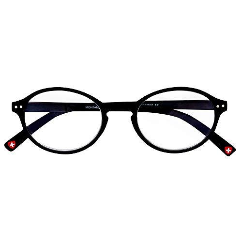Gafas de lectura ovaladas, redondas, negras, retro, de calidad, para lectores, gafas de lectura, gafas de lectura, modernas y frescas, redondeadas para hombres y mujeres