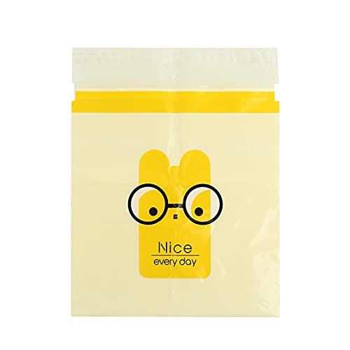 Bolsa de basura biodegradable, fácil de pegar, 15/30/60 unidades, bolsa autoadhesiva con bonito patrón para suministros de coche, oficina, hogar, bolsa de vómito