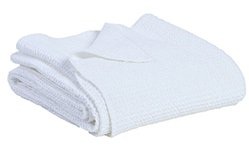 Vivaraise ~ Jeté de lit Maïa Stonewashed Blanc 260x260
