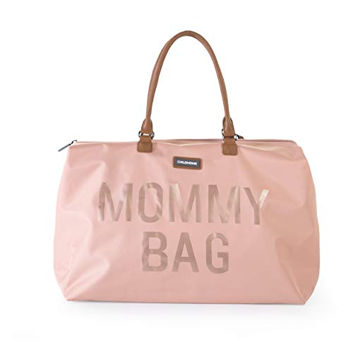 MOMMY BAG Big Pink - Functional Large Baby Diaper Travel Bag for Baby Care.
