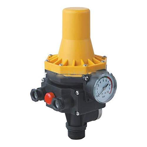 WRJ Pumpenschalter, Einstellbar Von 10 Bar Druckschalter Für Gartenpumpen Hauswasserwerk Vollautomatisch Elektronik Stress Controller,Gelb