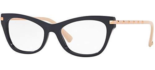Valentino Gafas de Vista ROCKSTUD VA 3041 Blue Rose Gold 52/17/140 mujer