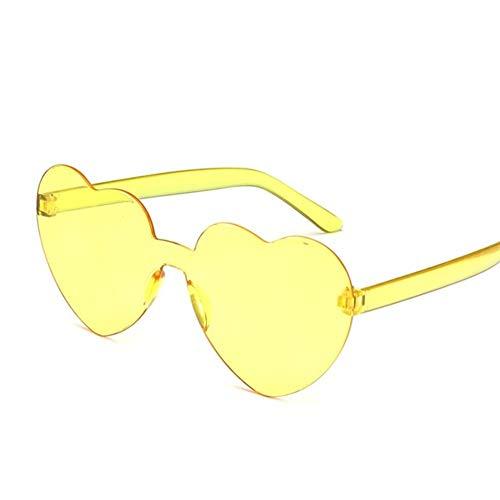 Gafas de sol sin montura del conductor mujeres nubes de la vendimia de la borla de las gafas de sol de los hombres sin marco de los vidrios UV400 Sombras Gafas de sol polarizadas ( Color : Yellow )