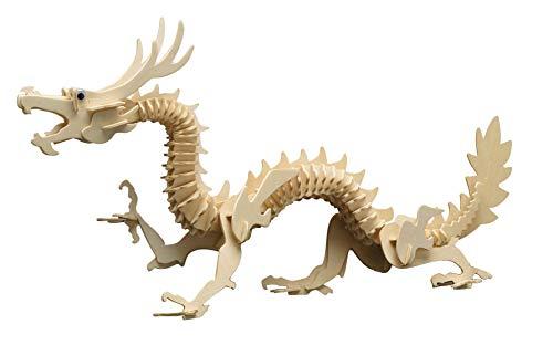 Pebaro Holzbausatz 3D Puzzle Chinesischer Drachen