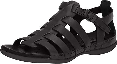 ECCO Women's Flash Strappy Sandal, Black Nubuck, 6-6.5