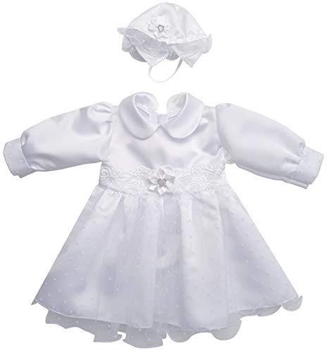 deine-Brautmode Kleid Babykleid Taufkleid Festkleid Mütze Mädchen Baby Taufe, Mia Kleid 56