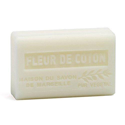 Provenzalische Seife Baumwollblüte (Fleur de Coton) mit Bio-Sheabutter (125 Gramm)