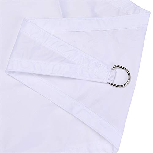 XJHKG Triangle Shade Sail, Waterproof 95% UV Block Patio Sunscreen Canopy Sunshade Cloth with Free Ropes (2.4 x 2.4 x 2.4m,White)