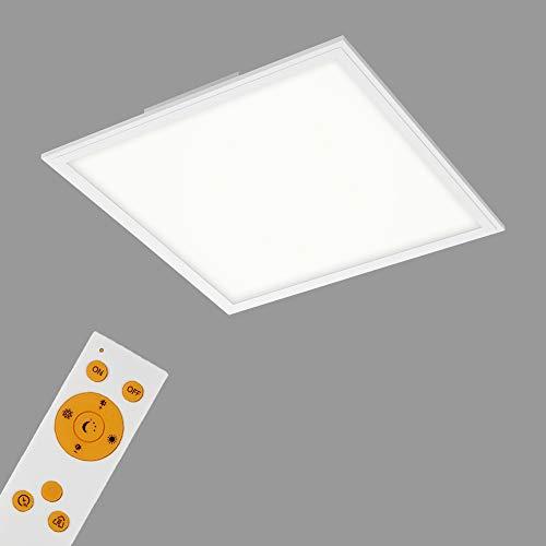 Briloner Leuchten LED Panel, Deckenleuchte dimmbar, Deckenlampe Fernbedienung, inkl. Farbtemperatursteuerung, 2.400 Lumen, Weiß, 45x45 cm, 24 W