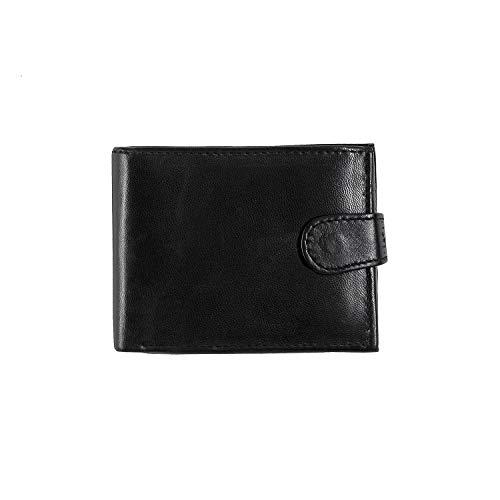 HIGHLIVING Mens Designer Genuine Real Soft Leather Wallet Credit Card Pocket Black 1