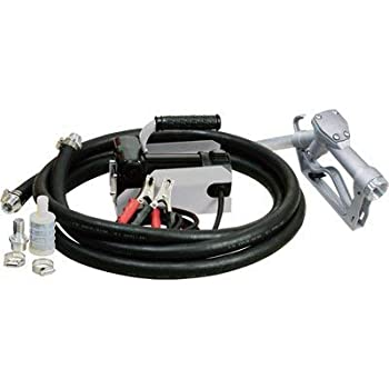 Roughneck 12V Fuel Transfer Pump - 11 GPM Manual Nozzle Hose