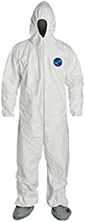 DuPont Tyvek 400 TY122S Disposable Protective Coverall Hood, Boots, XL 25PACK