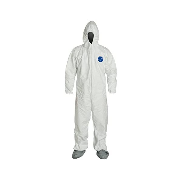 DuPont – TY122SWH2X0025VP Individually Packed Disposable Protective Coverall...