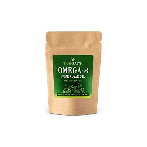Omega 3 capsule di olio di alghe x 60 alta resistenza EPA