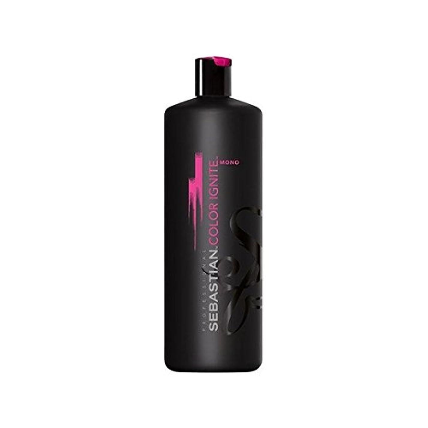 許す未知のたらいセバスチャンプロのカラーにモノシャンプー(千ミリリットル) x2 - Sebastian Professional Color Ignite Mono Shampoo (1000ml) (Pack of 2) [並行輸入品]