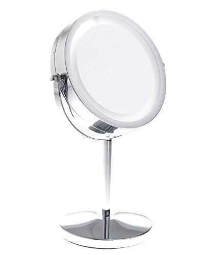 TUKA-i-AKUT LED make-up spiegel met verlichting, werkt op batterijen, 7