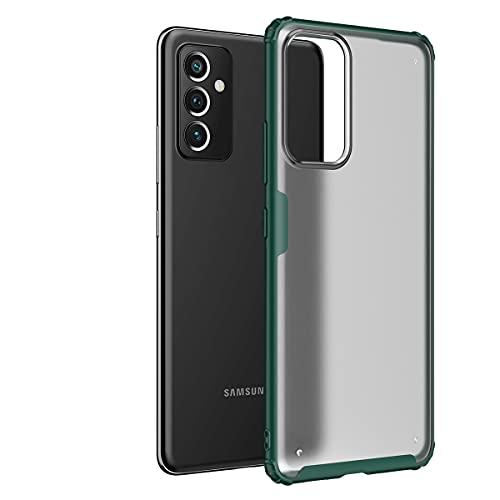 Hauw Funda para Samsung Galaxy A82 5G Caso,Cubierta Protectora Esmerilada Translúcida,Parte Posterior de PC y Cubierta Posterior de Borde Suave de TPU para Samsung Galaxy A82 5G,Verde