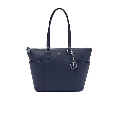 Lacoste NF3421DC, Zip Pockets Shopping Bag Femme, Marine 166, Taille Unique
