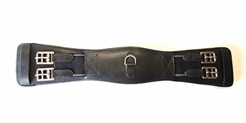 PS Pferdeartikel Leder Sattelgurt - Kurzgurt - gerade Anatomisch Farbe Schwarz 55cm Länge