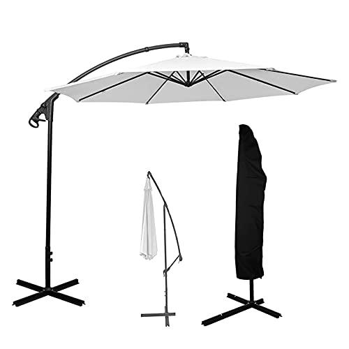 HMHMVM Parasol Grande en voladizo, Cubierta Impermeable, Funda para Muebles de jardín y Patio