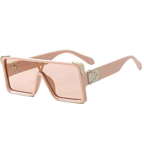 SHEEN KELLY Klassieke platte Top Shield zonnebril voor mannen vrouwen overgrote zonnebril vierkante zonnebril retro-zonnebril