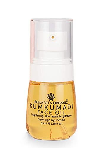 Glamorous Hub Bella Vita Organic Kumkumadi Face Glow Oil para pieles secas a normales con sándalo, azafrán, cúrcuma y aceite de sésamo 35 Ml