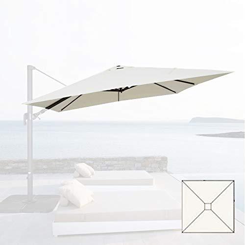Cubierta de lona de repuesto 3 x 3 para sombrilla de jardín Top Air Chimenea 3 x 3 – Beige