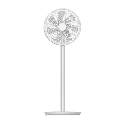 smartmi Outdoor Fan 2S, Pedestal Fan with 100-Speed, Floor Fan for Bedroom, Portable Quiet 120° Oscillating Fan, 40° Tilt, Smart Outdoor Fans for Patios Home Office, Cordless, DC Motor, Timer, 38in