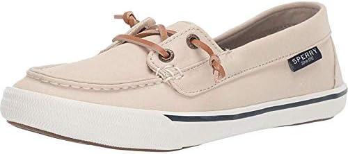 Sperry Womens Lounge Away Poplin Boat Sneakers Shoes Casual - Beige