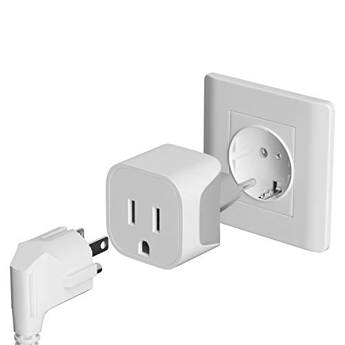 Bates- European Plug Adapter, 2 pc, Travel Adapter, US to Europe Plug Adapter, EU Adapter, Electrical Adapters, Converter Plug, European Outlet Adapter, Travel Plug Adapter, Converter Plug for Europe