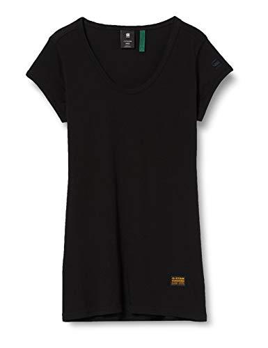 G-STAR RAW Womens Core Eyben Slim Short Sleeve Shirt, dk Black 4107-6484, Large