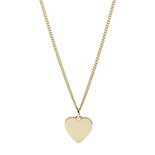 Fossil Women's Heart Gold-Tone Stainless Steel Necklace