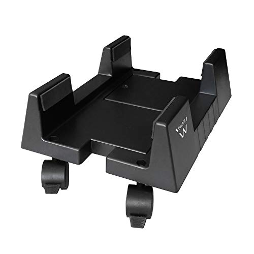 Ewent EW1290 Computer Desktop Ständer mit Rollen, Universal Einstellbare Basis von 15,5cm bis 25.5cm schwarz