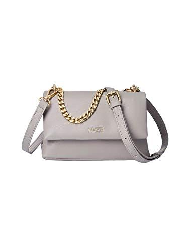 NYZE Damen Tote Chain Bag - 100% Vegane Umhängetasche mit Kette Grau