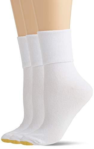 Gold Toe Women's Anklet Socks, 3-Pairs, White, Medium