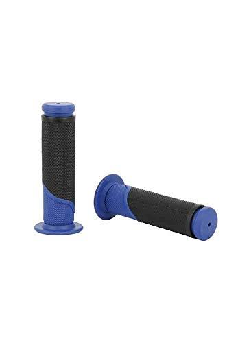 Sifam Poignées Bicolores Moto Bleu/Noir L 120mm Ø 22