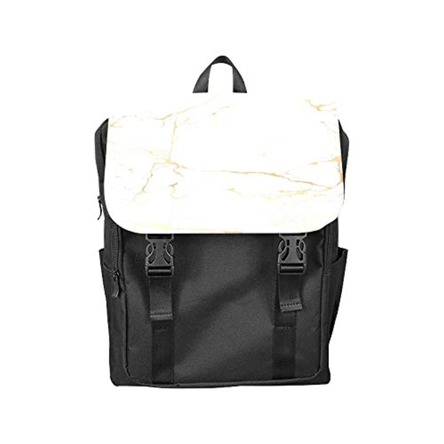 Fashion Flip Cover Notebook Marble Texture Color Crystal Gold Design Gorgeous and Noble Print Laptop Backpack Travel Men Women Business Computer Backpack Oxford Fabric Vintage School Shoulder Bag