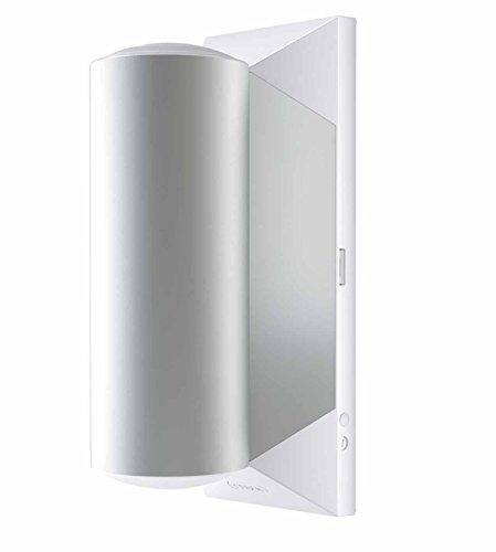 Osram LED Wandleuchte, Noxlite, weiß, Außenleuchte, zweiflammig, Bewegungsmelder, Dämmerungssensor, 9 Watt, Warmweiß- 3000K 4052899934337