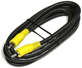 InstallerParts 6Ft RCA Male to Male RG59 Cable - Black w/Yellow Plug Housing