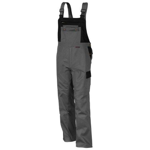 Qualitex Image-Latzhose Mischgewebe 65% Baumwolle 35% Polyester 3105/5-8 52,Grau-Schwarz