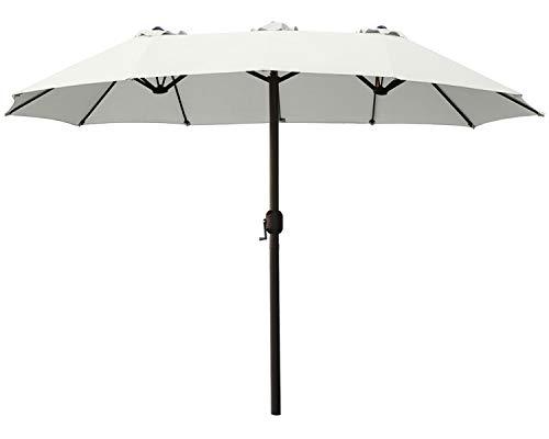 ABCCANOPY 15FT Double-Sided Aluminum Table Patio Umbrella...