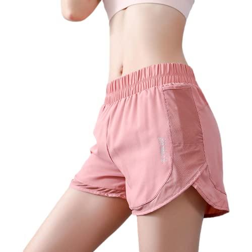 Fainash Pantalones Cortos Deportivos de Cintura elástica para Mujer, Entrenamiento de Moda, Cintura Alta, Correr al Aire Libre, Pantalones Cortos Holgados para Yoga L