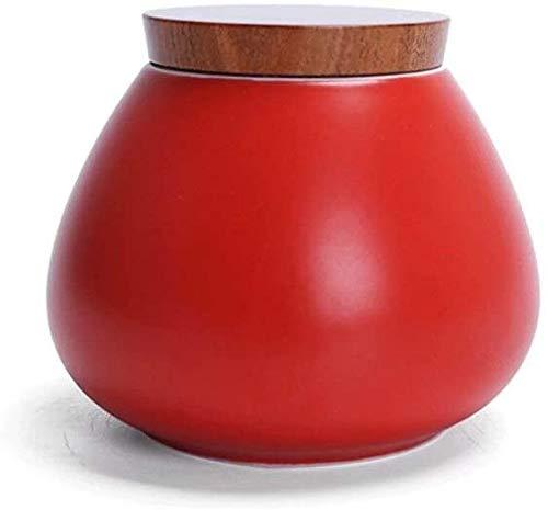 AWAING Urnas para Cenizas Humanas Urna de Cenizas de cremación para Adultos pequeñas urnas conmemorativas Humano Mediano Estilo japonés pequeño portátil Lata sellada de cerámica Urnas para Ceniz