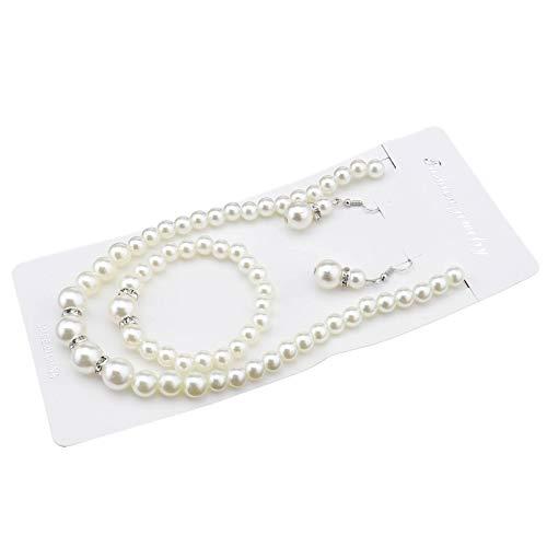 D2D Perla Cristallo Collana Elegante Matrimonio Sposa Damigella d' Onore Perle finte Collana Orecchini Braccialetto