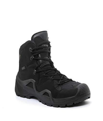 YDS Astor Mid Cut GTX Zapatillas Militares, Botas Militares, Gore-Tex, Zapatillas de Aire Libre Transpirables, Suela de Caucho, Cómodo, Nubuck,, Negro (Negro ), 41 EU