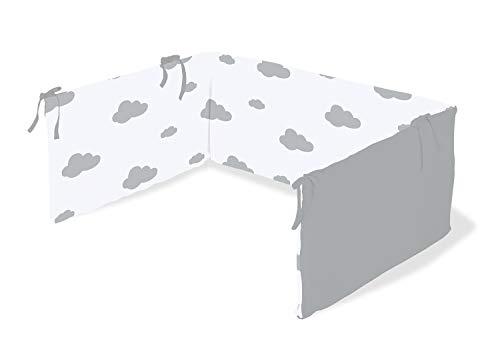 Pinolino 650012-8 Nestchen für Kinderbetten 'Wölkchen', grau